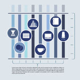 Abstract elements of infographics with office Stock Photo