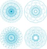 Abstract elements set - mandala guilloche  Royalty Free Stock Photo