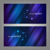 Abstract elements. Website header or banner set Stock Photos