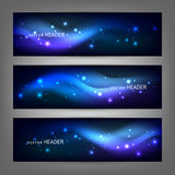Abstract elements. Website header or banner set Stock Images