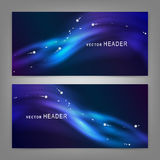 Abstract elements. Website header or banner set stock illustration