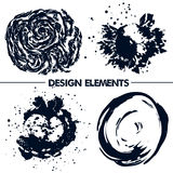 Abstract elements for your design.  Dark blue Stock Photos