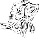 Abstract elephant head. Brush stroke abstract elephant head design Royalty Free Stock Photography