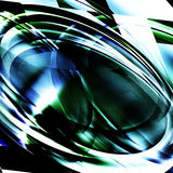 Abstract eliptical froms. Abstract in shades of blue and green Stock Images