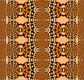 Abstract ellipses pattern orange peach color black. Abstract geometric seamless background. Regular pattern with oval elements in orange and peach color with Royalty Free Stock Photos