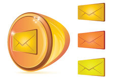 Abstract email button Stock Photo