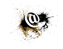 Abstract email grunge icon Stock Photo