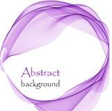 Abstract embleem met abstracte golven in de vorm van een cirkel royalty-vrije illustratie