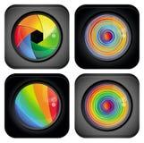 Abstract embleem met de elementen van het regenboogontwerp Royalty-vrije Stock Foto's
