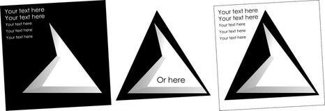 Abstract embleem van verkeerd driehoeken licht embleem Stock Fotografie