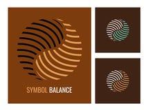 Abstract embleem Yin Yang, symboolharmonie en saldo Royalty-vrije Stock Fotografie