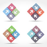Abstract Emblem with Arrows Royalty Free Stock Images
