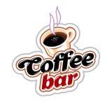 Coffee Bar Emblem royalty free stock images