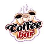 Coffee Bar Emblem royalty free stock photos