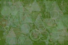 Shape background pattern, good for graphic design. Random, digital, stroke & illustration. Abstract embossed, soft blend & random circle, square, rectangle Royalty Free Stock Image