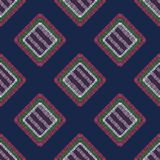 Abstract embroidery carpet geometric tile seamless pattern royalty free illustration