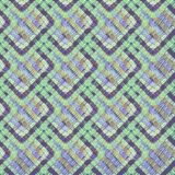 Abstract embroidery geometric tile seamless pattern. Patchwork ornament stock illustration