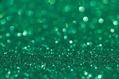 Green glitter with bokeh stock photo