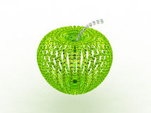 Abstract emerald glass apple Royalty Free Stock Photo