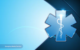 Abstract emergency medical services health care template design innovative frame layout background Royalty Free Stock Photography