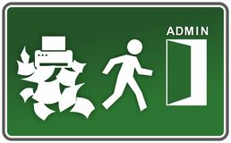 Abstract emergency sign Royalty Free Stock Photo