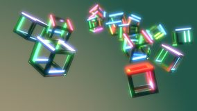 Abstract emissions cubes of background, 3d rendering. Abstract emissions cubes of background, 3d render Royalty Free Stock Image