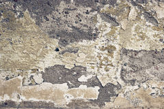 Abstract empty abandoned urban exterior fragment, old weathered concrete wall Stock Photography