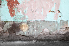 Abstract empty abandoned urban interior royalty free stock photography