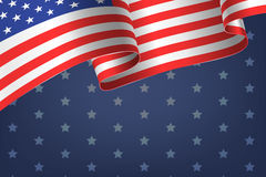 Abstract empty background with american flag Stock Photo