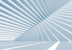 Abstract empty blue 3d interior background. With staircase Stock Photography