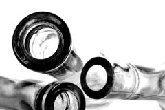 Abstract Empty Bottle Background Stock Image