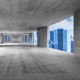 Abstract empty concrete 3d interior background Stock Photography