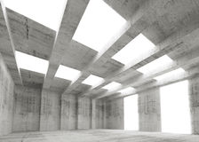 Abstract empty concrete 3d interior with lights Stock Image