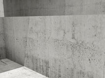 Abstract empty concrete, 3d room interior Stock Photo
