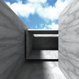 Abstract empty concrete interior. Architecture background Royalty Free Stock Image