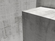 Abstract empty concrete interior background Royalty Free Stock Image