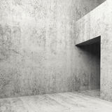 Abstract empty concrete interior, 3d illustration Stock Photo