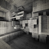 Abstract empty concrete interior 3d illustration Royalty Free Stock Photo