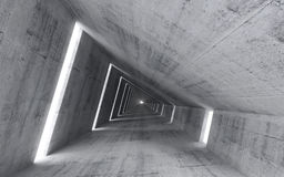Abstract empty concrete interior. 3d render of pitched tunnel Royalty Free Stock Photography