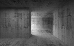 Abstract empty concrete interior. 3d render Stock Image