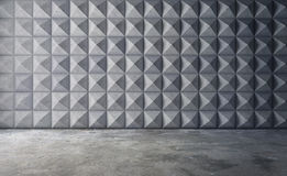 Abstract empty concrete interior with polygonal wall pattern. 3d rendering stock illustration
