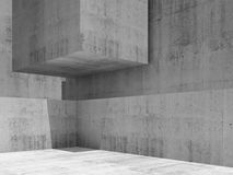 Abstract empty concrete interior, render Stock Images
