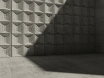Abstract empty concrete room interior Stock Images