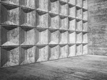 Abstract empty concrete room interior 3d Royalty Free Stock Image