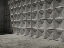 Abstract empty concrete 3d interior Stock Photos