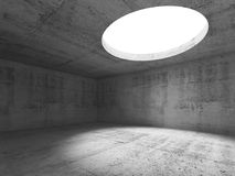 Abstract empty concrete showroom 3 d. Abstract empty concrete interior, showroom with round ceiling light window. 3d render illustration vector illustration