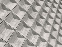 Abstract empty concrete wall, 3d pattern Royalty Free Stock Photo
