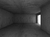 Abstract Empty Concrete Walls Dark Illuminated Room Background Royalty Free Stock Photo