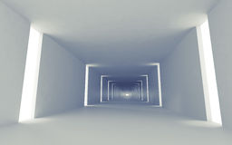 Abstract empty 3d interior background perspective. Abstract empty 3d interior background with corridor perspective and lights royalty free illustration