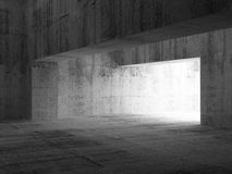 Abstract empty dark concrete interior. 3d illustration Royalty Free Stock Photos